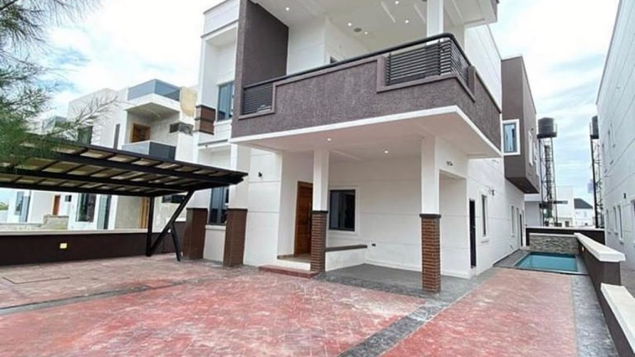 5 bedroom duplex for sale in lagos,lekki county lekki