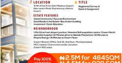 Land for sale at owerri,imo state