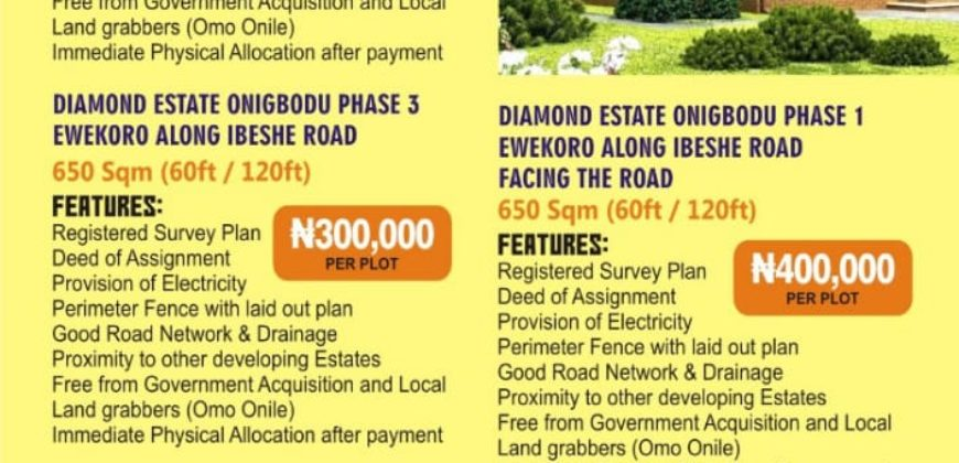 Lands for sale in Lagos state